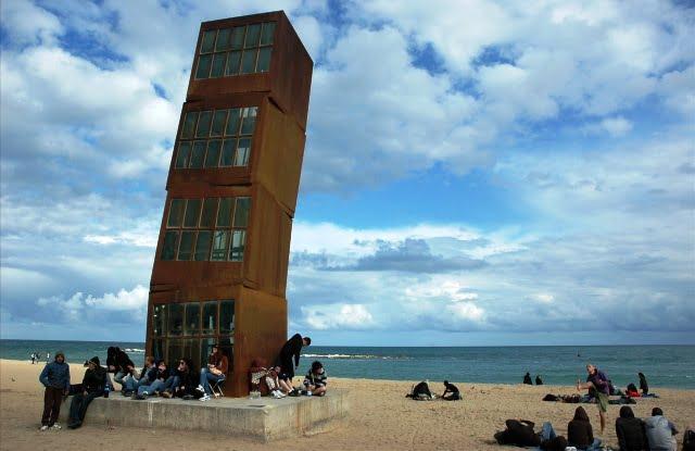 Barselona deniz kumsal İspanya tatil