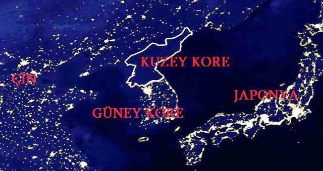 kuzey kore harita