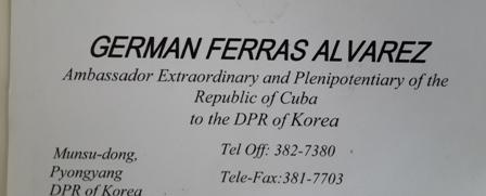 küba kuzey kore