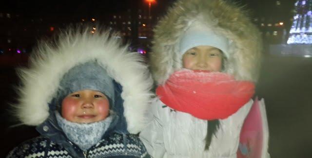 sibirya'da çocuklar