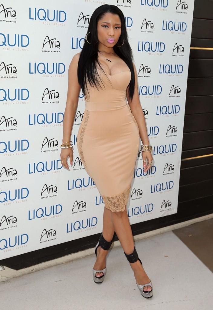 Hot or Meh: Nicki Minajs Nude La Perla Shape Dress at Las