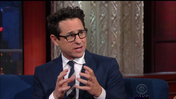J.J. Abrams during an appearance on CBS's 'The Late Show with Stephen Colbert.'