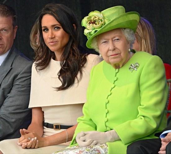 La regina e Meghan La duchessa del Sussex aprono oggi il Mersey Gateway Bridge, il ponte collega Runcorn e Widnes nel Cheshire.
