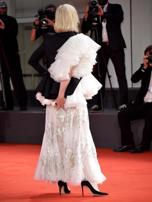 Tappeto rosso per la cerimonia del Leone d'oro alla carriera durante il Festival del Cinema di Venezia