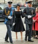 Kate, duchessa di Cambridge, principe William, duca di Cambridge, principe Harry, duca di Sussex e Meghan, duchessa di Sussex in servizio in occasione del centenario della Royal Air Force il 10/07/2018