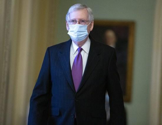 Il leader della maggioranza al Senato degli Stati Uniti Mitch McConnell (Repubblicano del Kentucky)