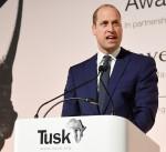 Il principe William, duca di Cambridge, tiene un discorso ai Tusk Conservation Awards di Londra