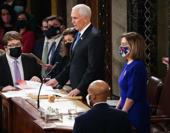 Il Congresso si riunisce per certificare il voto del collegio elettorale presso il Campidoglio degli Stati Uniti
