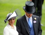 Royal Ascot, Regno Unito, il principe Harry, duca di Sussex e sua moglie Meghan, duchessa di Sussex