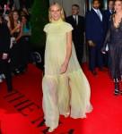 Gwyneth Paltrow esce per Met Gala in oro