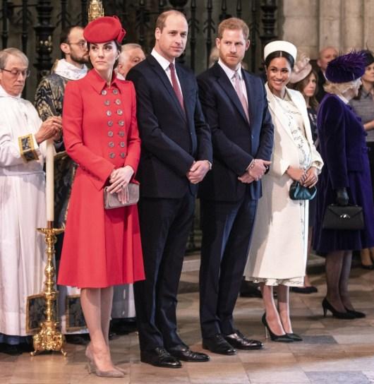 Il duca e la duchessa di Cambridge stanno con il duca e la duchessa di Sussex a W