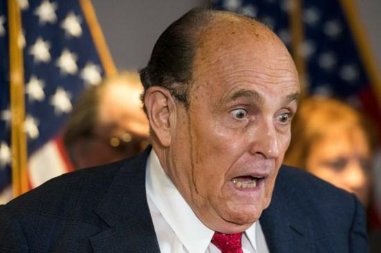 Conferenza stampa Giuliani presso la sede di RNC