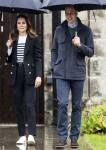 La britannica Catherine, Duchessa di Cambridge e il principe William, duca di Cambridge, arrivano in visita all'Università di St Andrews a St Andrews il 26 maggio 2021.