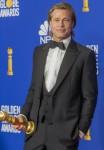 Brad Pitt si pone nella sala stampa dei 77th Annual Golden Globe Awards, Golden Globes, presso l'Hotel Beverly Hilton di Beverly Hills, Los Angeles, USA, il 05 gennaio 2020.   utilizzo in tutto il mondo