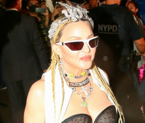 Madonna arrives at the Madame X event in Times Square