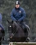 Il principe Andrea sembra a suo agio a cavallo nel Windsor Park