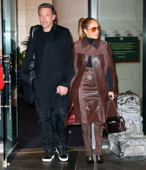 Jennifer Lopez and Ben Affleck are checking out of the Mandarin Hotel