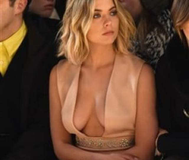Ashley Benson Goes To A Fashion Show With Her Tits Hanging Out