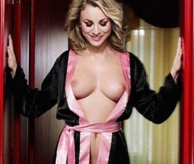 Kaley Cuoco Topless Behind The Scenes Of The Big Bang Theory