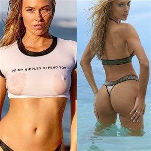 Samantha Hoopes Hard Nipples Vs Hannah Fergusons Twerking Ass