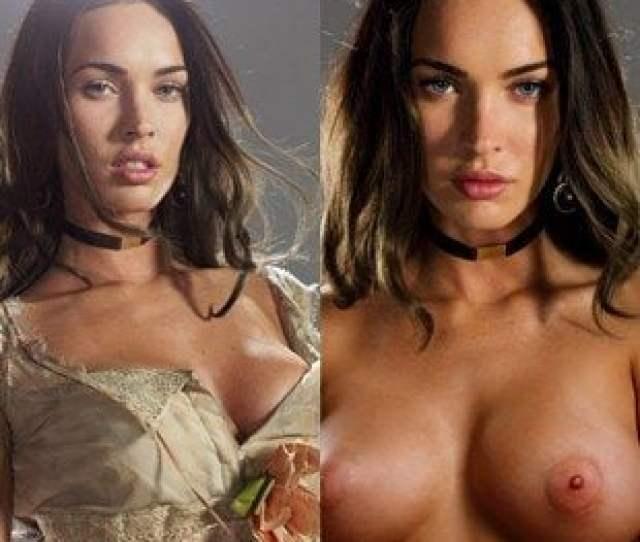 Megan Fox Nude And Behind The Scenes Panties Pull Down