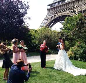 chris eiffel tower wedding