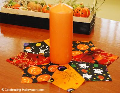 No Sew Halloween Candle Mat - Halloween Crafts