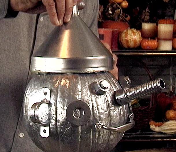 Tin Man Halloween Pumpkin - No Carving Pumpkin Ideas