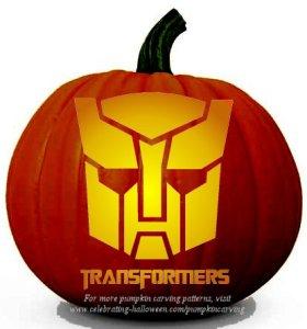 transformers pumpkin carving stencil
