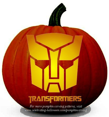 transformers pumpkin carving stencil