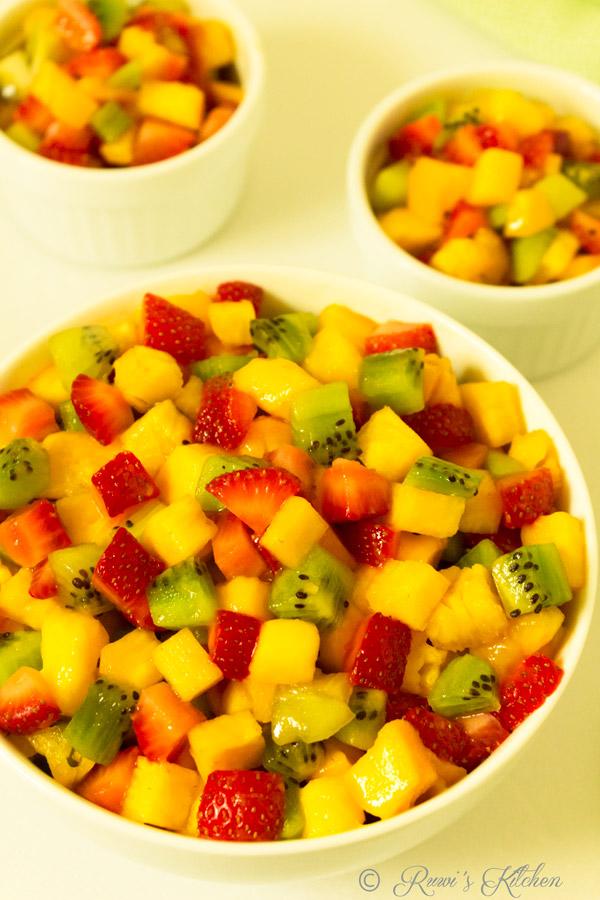 Diced fruit salad