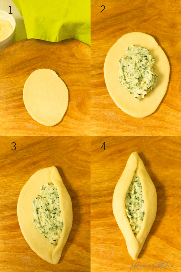 Steps to shaping a fatayer