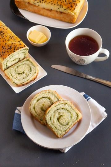 Mint swirl bread