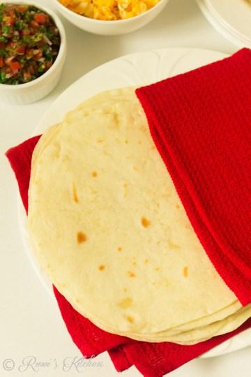 soft flour tortilla