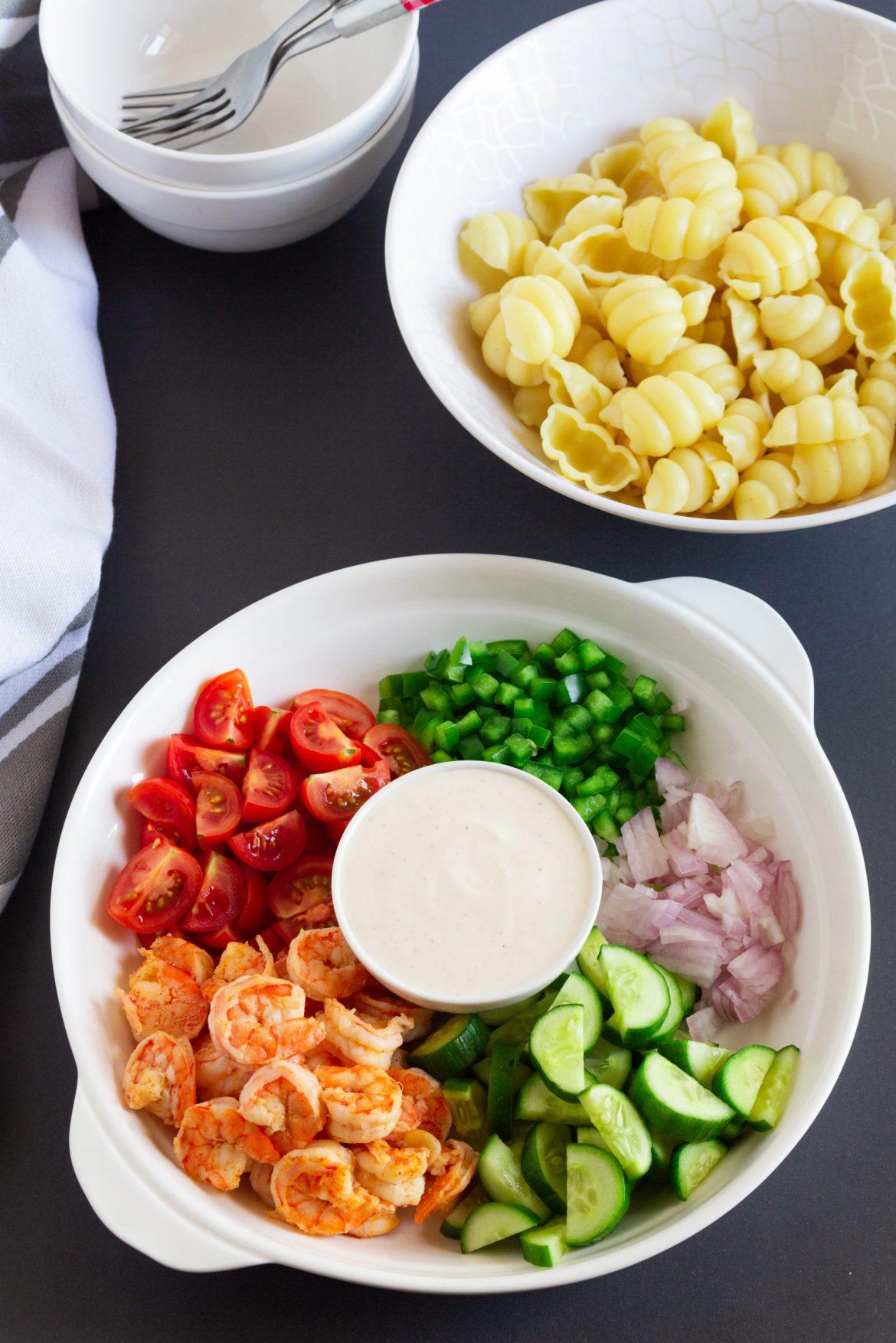 how to make cold shrimp pasta salad