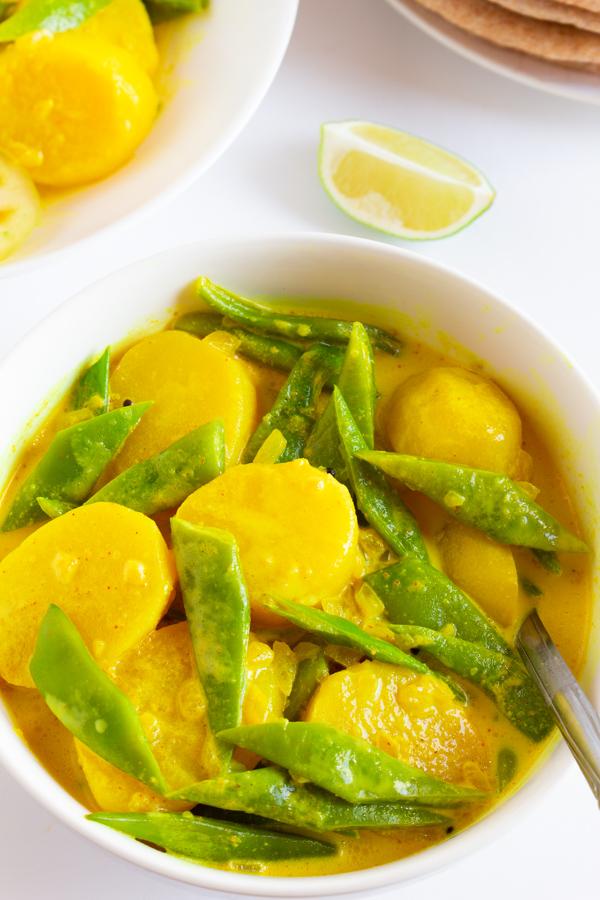 potato green bean coconut curry