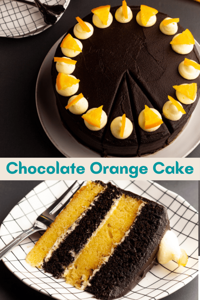 how to make orange chocolate layer cake