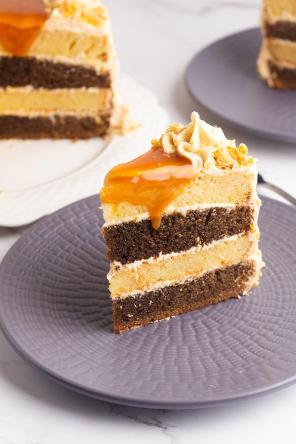 Vanilla flavored coffee cake