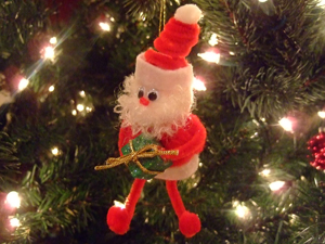 Pom Pom Santa Christmas Craft Celebrating Holidays