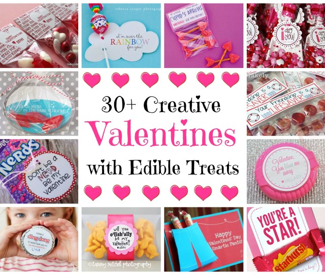 Valentines With Edible Treats Valentines With Edible Treats  C B Valentines Day Card Holder Ideas