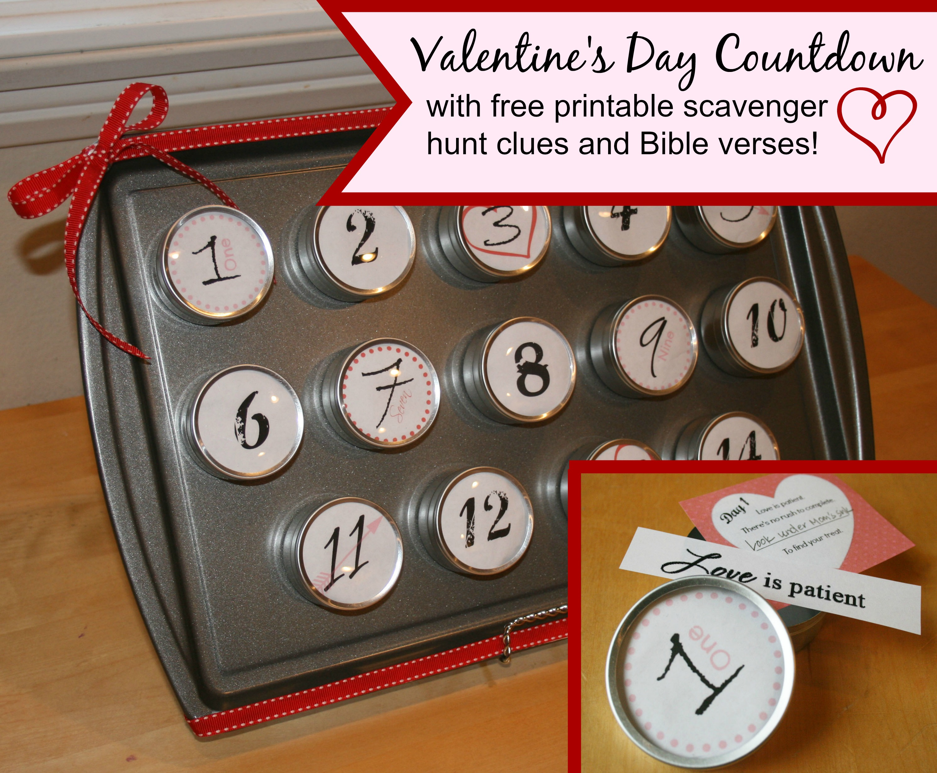 A Bible Verse And Scavenger Hunt Countdown For Valentine S