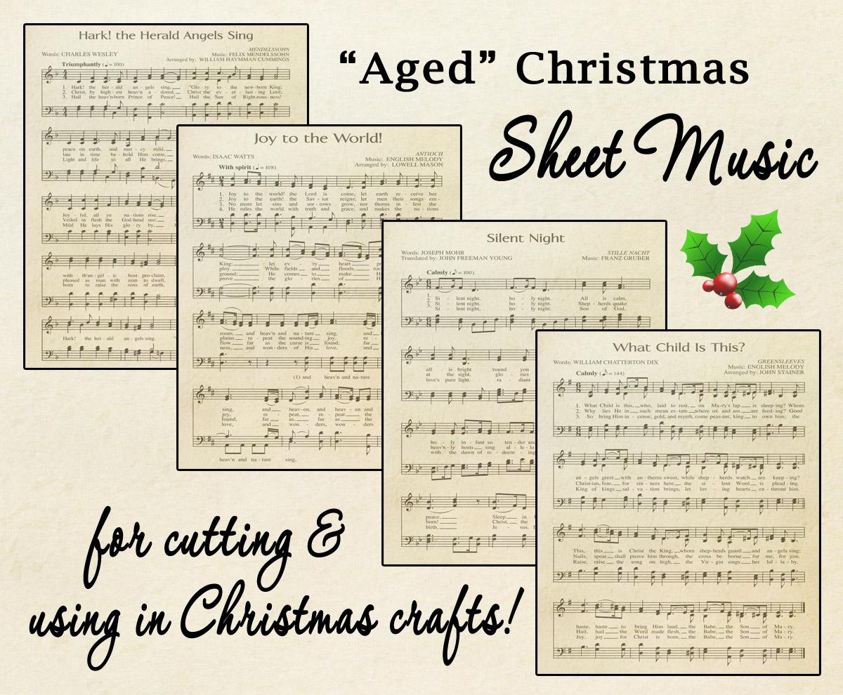 Free Printable Aged Music Sheets