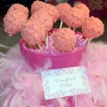 Pink Damask Birthday Party Cake Pops