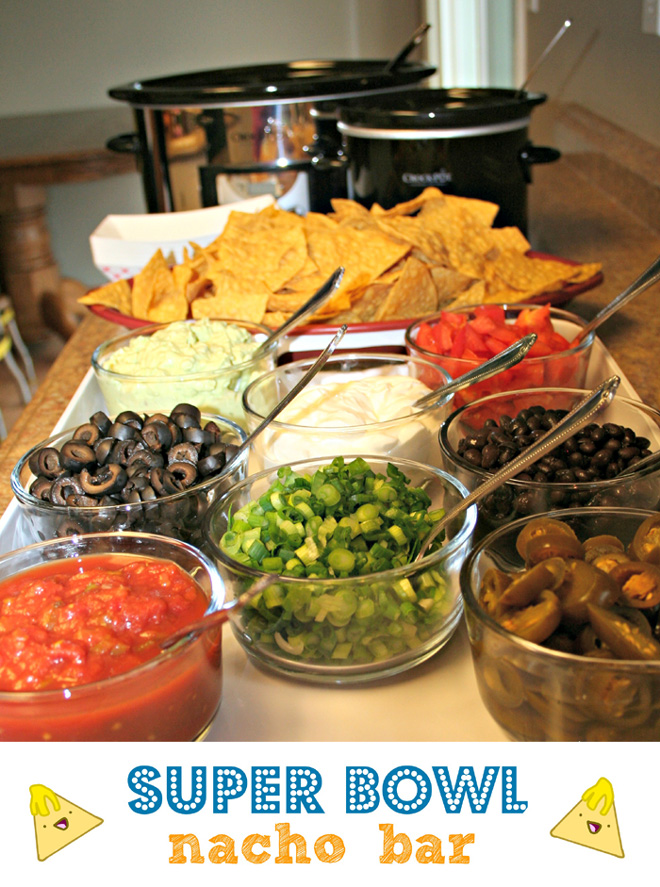 Super Bowl Nacho Bar - perfect for your football party!