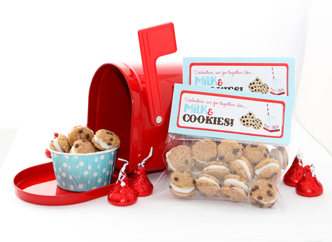 Milk and Cookies Free Valentine Printable |CelebrationLane.com