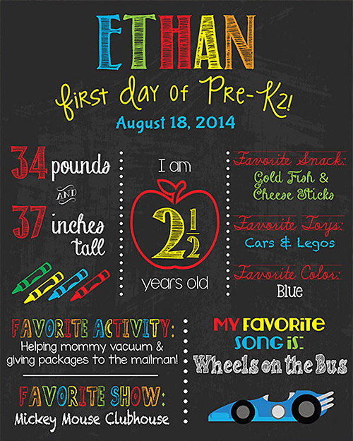 Chalkboard Posters for Back to School