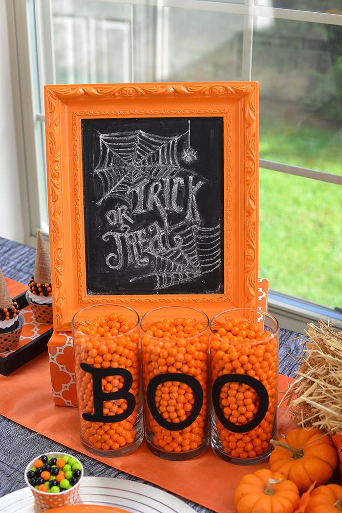 Party Ideas Not So Spooky Halloween - Chalkboard Sign