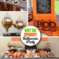 Not So Spooky Halloween Party Ideas - cute, and not scary for young kids. Lots of inspiration for a Halloween Party or Pumpkin Patch theme.
