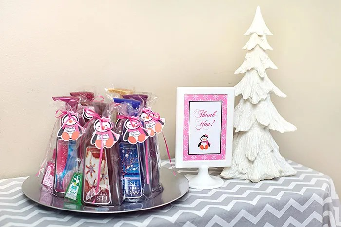Winter Wonderland Bath and Body Works Favors