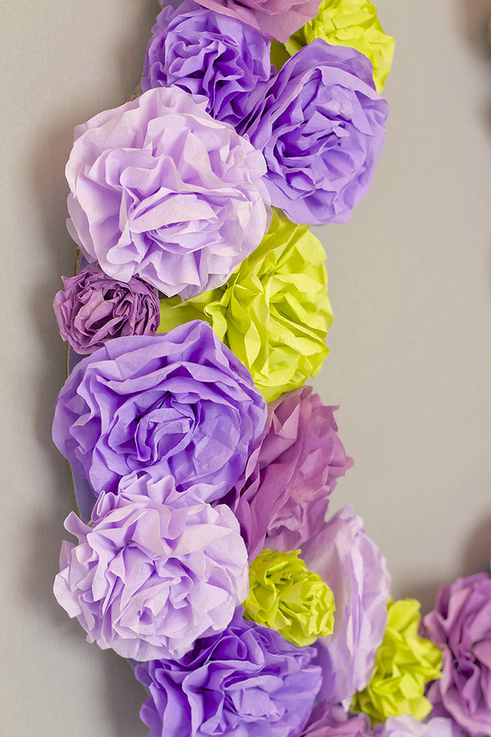 Kentucky Derby Party Coffee Filter Wreath